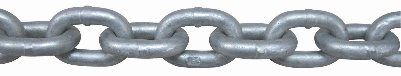 1/4'' x 50' Hot Dipped Galvanzied ISO G4 Windlass Anchor Chain by HRD Marine