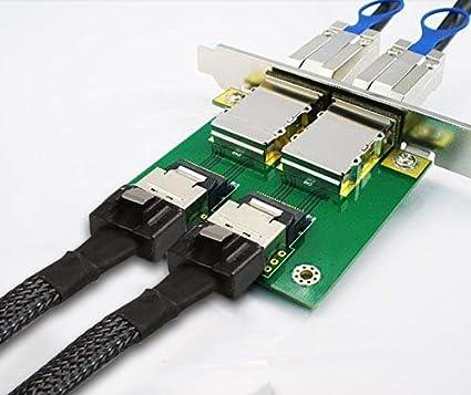 C/âble Mini SAS SFF 8087 /à SFF 8087-1 Meter J/&D C/âble Internal Mini-SAS /à Internal Mini-SAS