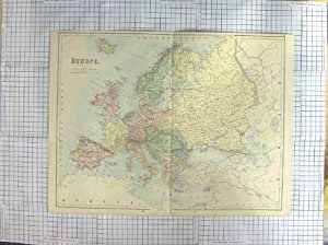 MAPA c1870 EUROPA ITALIA FRANCIA ESPAÑA de la ANTIGÜEDAD de BARTHOLOMEW
