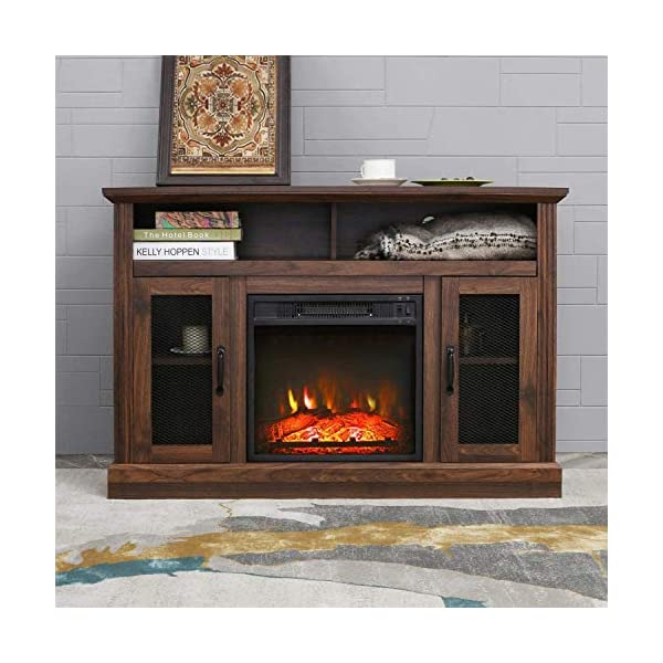 PatioFestival Fireplace TV Stand Electric fire Place heaters Entertainment Center Corner tv Console with fireplaces for…