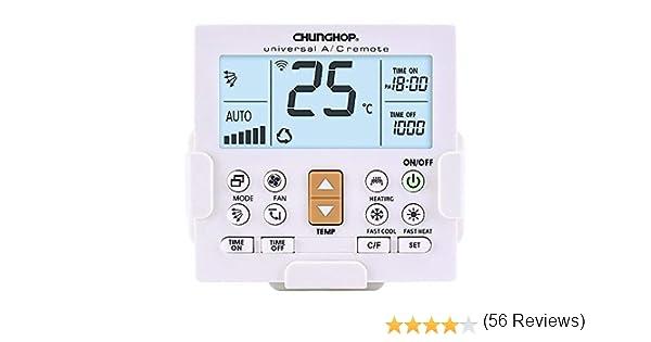 Mando Universal para Aire Acondicionado - Soporte pared - Luz de pantalla: Amazon.es: Hogar