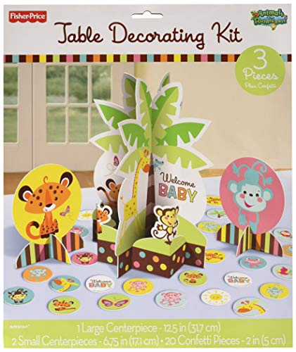 amscan Fisher-Price Baby Shower Party Table Decorating Kit -