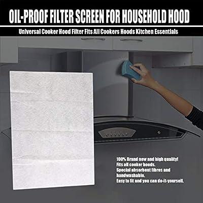 Fits All Cookers Hoods Kitchen Essentials Universal Cooker Hood Filter KV