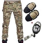 H Welt EU Pantalon militaire pour homme, pantalon avec genouillères pour jeux de stratégie, airsoft, paintball, tir… 6