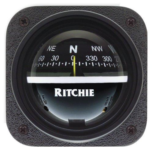 Explorer Bulkhead (Ritchie V-537 Explorer Compass - Bulkhead Mount - Black Dial)
