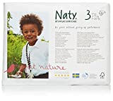 Naty by Nature Babycare Eco-Friendly Diapers, Size 3, 4 packs of 31 (124 Count)