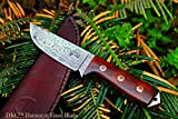 Sale (33 5/18) DKC-73 Survival 1 Damascus Hunting Knife 8″ Long 4″ Blade 5.4 oz ! Walnut Handle Review