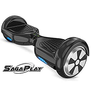 SagaPlay F1 Self Balance Board Motorized 2 Wheel Self Balancing Scooter [CSA/UL2272 Certified] All-Terrain Tires Personal Hover Transporter for Kids and Young Adults [Model: F1, Black, Series N20]