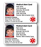Medical Alert ID Cards - You Get Two!