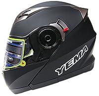 YEMA Helmet YM-925 Dual Visor Modular Flip up Motorcycle Helmet-Matte Black,XX-Large by Lanxi Yema Motorcycle Fittings Co.,LTD
