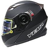 Motorcycle-Modular-Full-Face-Helmet-DOT-Approved-YEMA-YM-925-Motorbike-Moped-Street-Bike-Racing-Snowmobile-Crash-Helmet-with-Sun-Visor-for-Adult-Men-and-Women