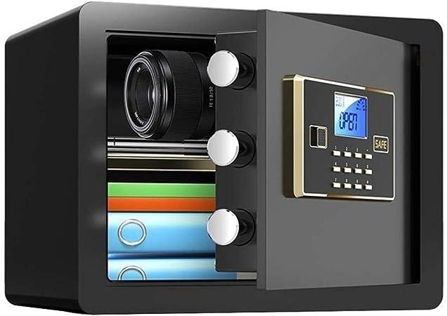 QZBXG Pequeña Caja Fuerte electrónica, Mini Caja Fuerte Llave de la Caja Pared Cajas Fuertes de Muebles de Acero Caja de Seguridad (Color : Black): Amazon.es: Hogar