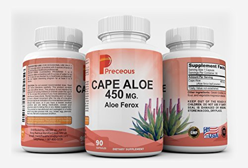 Cheap Cape Aloe 450 MG Aloe Ferox Dietary Supplement Capsules, Non-GMO Formula