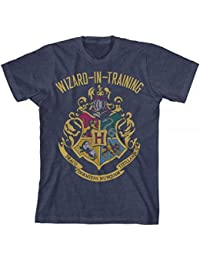 Boys Wizard In Training Navy Heather Tee