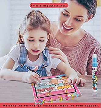 Tango Musical Instruments Magic Water Coloring Book with Water Pen for Kids Water Activity Book Paint with Water Book for Toddlers