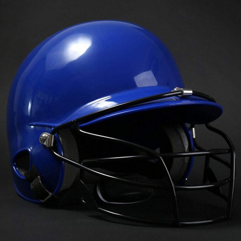 Blue Arvin87Lyly casco da baseball con 2/ear Protector e baseball maschera protettiva ABC ventilazione baseball casco per adulti e Junior