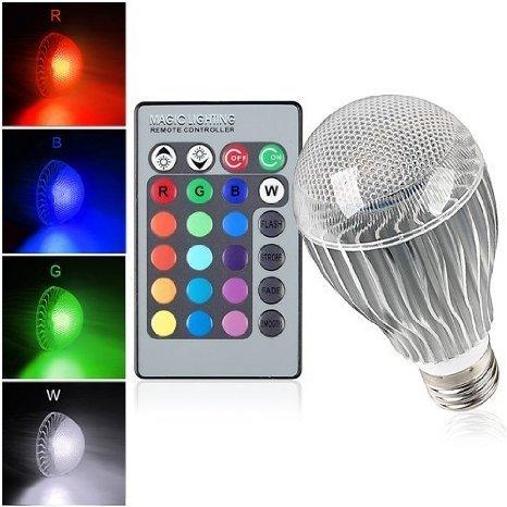 Regulable bombilla LED E27 RGB OSSUN luz cambio de 16 colores 9 W + 24 teclas Control remoto para parte de la decoración, función de memoria: Amazon.es: ...