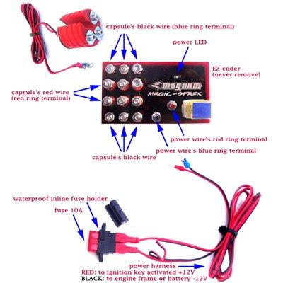 Magnum Magic-Spark Plug Booster Performance Kit Suzuki SV650 Sport Ignition Intensifier - Authentic
