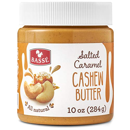 (Basse All Natural Cashew Butter with Salted Caramel, Certified Gluten Free and Vegan Nut Butter, Creamy Blend of Roasted Cashews 10 Oz (1 Jars))