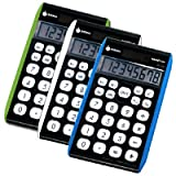 Hybrid Power 8 Digit Desktop Calculator Set (Set of 3)