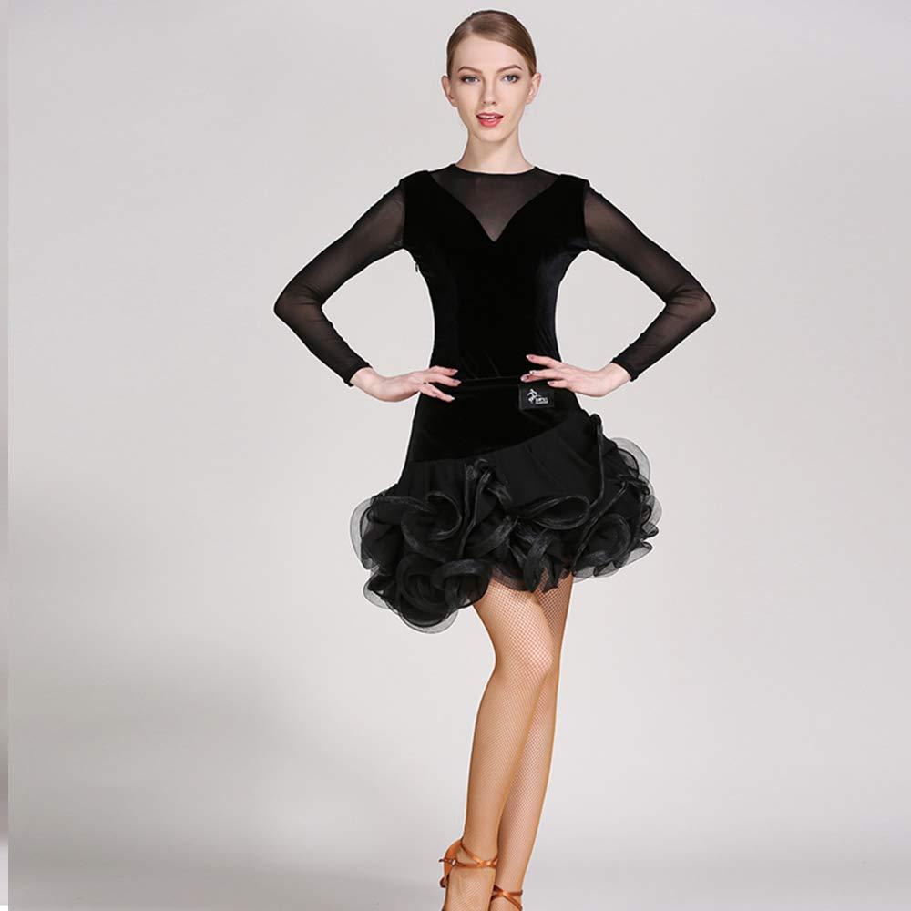 非常に高い品質 モダンな女性の大きな振り子ベルベットラテンダンスドレスモダンダンスドレスタンゴとワルツダンスドレスダンスコンペティションスカートロングネット糸ドレスダンスコスチューム B07HK5QKN7 B07HK5QKN7 Large|Black Large|Black Black Black Large, ファッション&インテリア Ane-INN:78ee0750 --- a0267596.xsph.ru