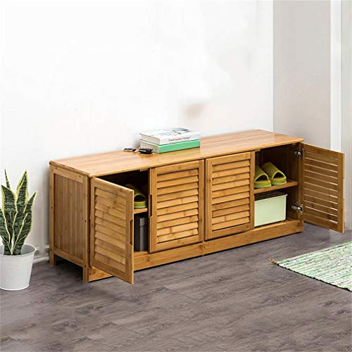 ALUS- Shoe Cabinet, Door and Shoe Bench, Solid Wood, Modern Seat, Shoe Rack, Multi-Function Storage Cabinet, Large Space