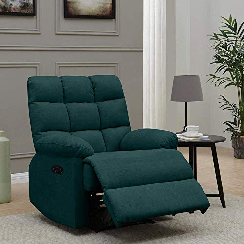 Furny Ronnie 1 Seater Fabric Recliner Sofa Teal