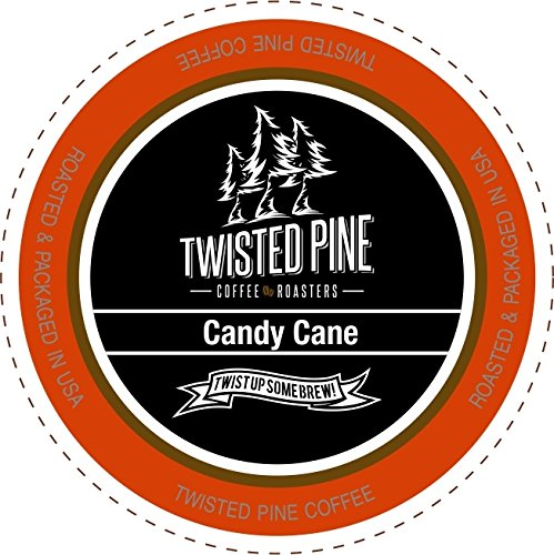 Twisted Pine Coffee Candy Cane, Flavored Coffee, Single-Serve Cups for Keurig K-Cup Brewers, 80 -