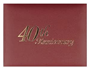 Weddingstar 40th Anniversary Guest Book