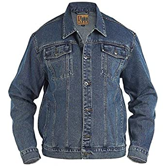 a982578908 Big King Size Mens Denim Jean Jacket Duke Trucker London Western ...