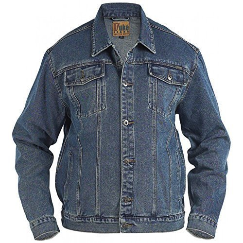 Duke London - Herren Jeansjacke Kingsize Top - Stonewash, 6XL