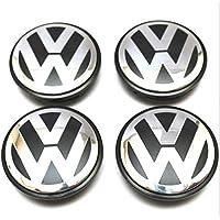 4pcs 65mm Black Wheel Center Hub Caps Fit for VOLKSWAGEN VW Passat Bora Magotan Tiguan Longyi Golf 6 Magen