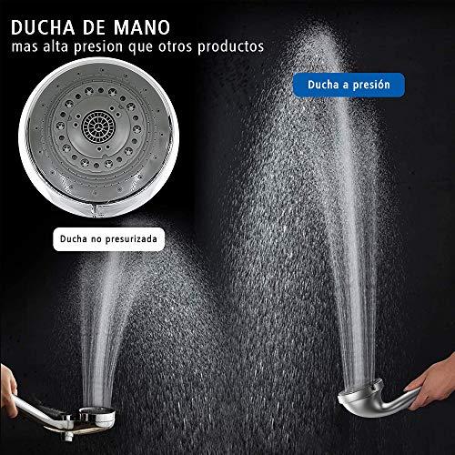 Soonan Alcachofa De Ducha Con Alta Presion 7 Modos De Chorro De Agua Universal Cabezal De Ducha Con El Tubo Flexible 2m De Acero Inoxidable