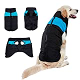 #8: Dog Winter Coat Vest Windproof Warm Dog Clothes Jacket for Cold Weather Dog Outdoor Extra Protection Down Jacket for Small Medium Dogs,Blue 3XL