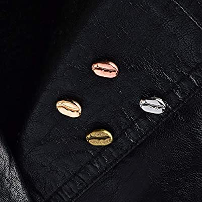 zhenleisier Brooch Pin,Men Women Coffee Bean Brooch Pin Suit Sweater Shirt Skirt Scarf Lapel Denim Jacket Collar Bag Badge Cardigan Shawl Clip Antique Bronze: Kitchen & Dining