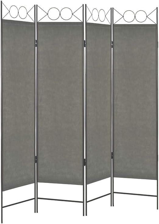 vidaXL Biombo Divisor de 4 Paneles 160x180 cm Hogar Interior Exterior Muebles Decoración Diseño Bricolaje Mobiliario Separador Espacios Gris Antracita: Amazon.es: Hogar