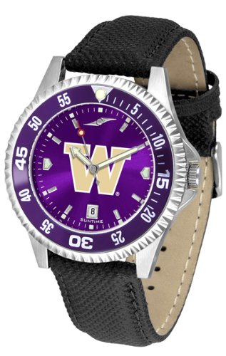 Washington Huskies Competitor AnoChrome Men's Watch - Color Bezel