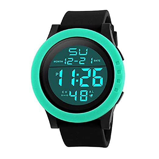 ¡Promoción Reloj Deportivo Digital para Hombre Reloj LED Impermeable para Rostro Grande Reloj de Pulsera