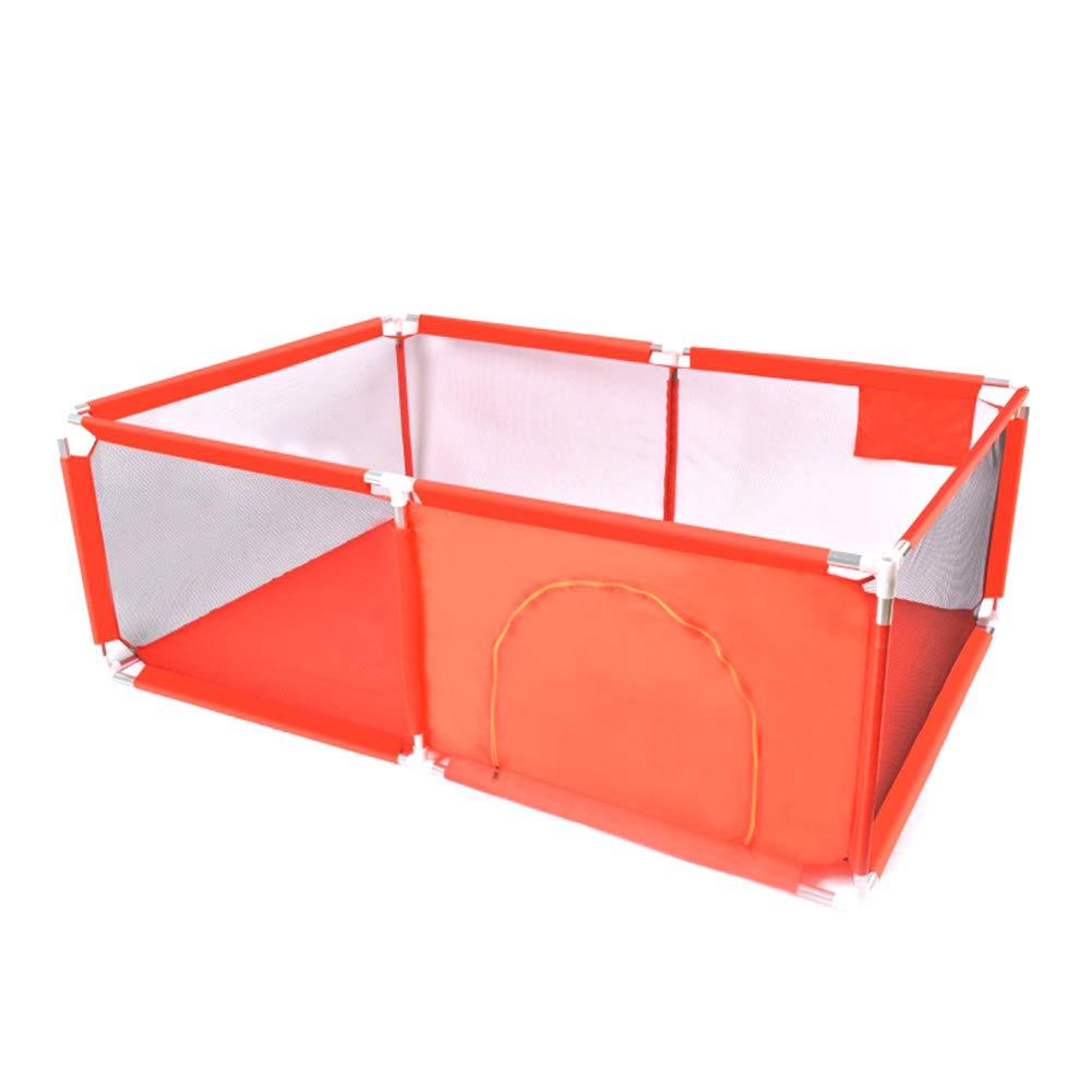 ベビーサークル エクストララージベイビープレイペンキッズセーフティアクティビティセンター6パネルポータブルプレイヤード(幼児用)、190x128x68cm (色 : Red)  Red B07LDRJZT4