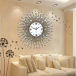 CGGGHY Stylish Living Room Wall Clock Creative Modern Clocks Wall Chart Bedroom Mute Personality Wall Clock Quartz Clock 20 Inch 60Cm (Yuk-Sanding Disc) To Wallpaper