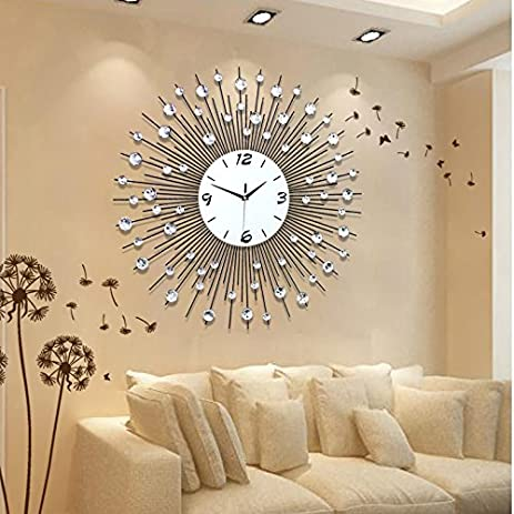 CGGGHY Stylish Living Room Wall Clock Creative Modern Clocks Chart Bedroom Mute Personality
