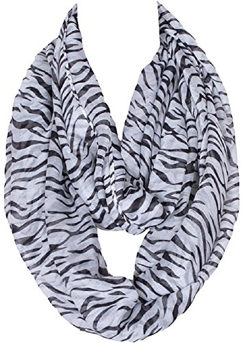 Bettyhome Women's Infinity Loop Scarf Chevron Sheer Zebra Printing (as picture) (Print Boots Zebra)