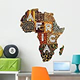 Wallmonkeys Patchwork Africa Wall Decal by Peel and Stick Graphic (36 in H x 30 in W) WM366895