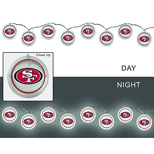 - Team Sports America 2LA3826SL San Francisco 49ers String Lights