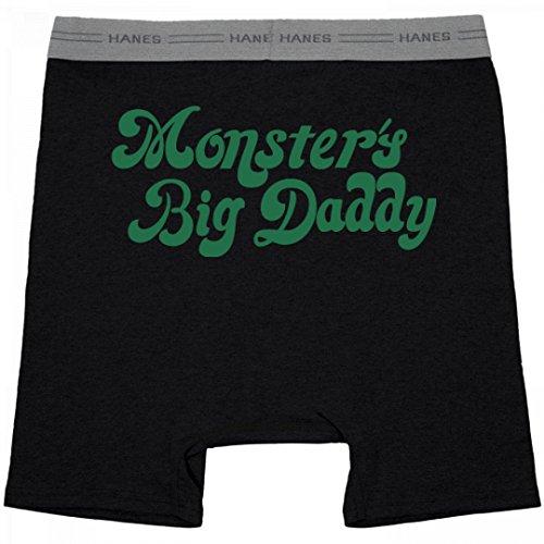 Daddy's Big Monster Joker: Hanes Black Boxer Brief Underwear (Boxer Girl Halloween)