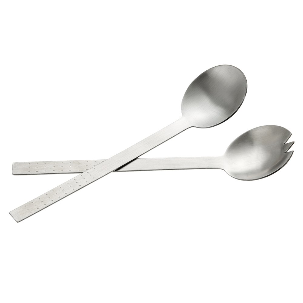TAFOND 304 Stainless Steel 10.8 Inch 2-Piece Salad Spoon Fork Serving Set