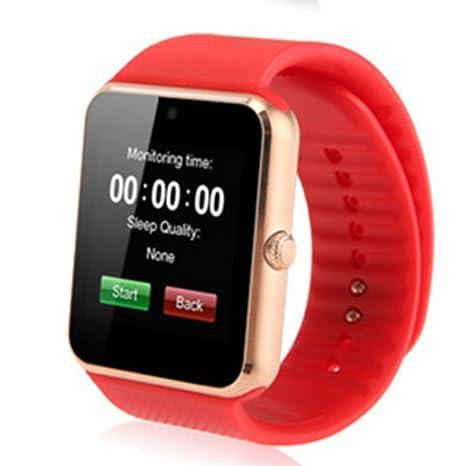 Reloj inteligente Bluetooth, Ainstsk GT08 Antipérdida Bluetooth reloj inteligente podómetro reloj de pulsera función de