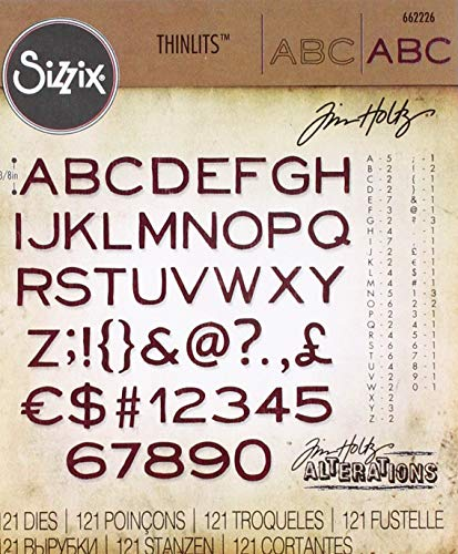 Sizzix 662226 Thinlits Die, Black