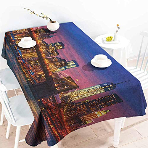 Willsd Elastic Tablecloth Rectangular,New York NYC That Never
