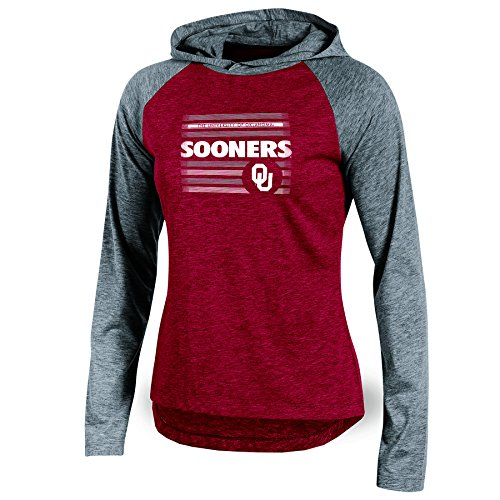Oklahoma Pullover (NCAA Oklahoma Sooners Adult Women Long sleeve Pullover Colo, Small, Crimson Heather)